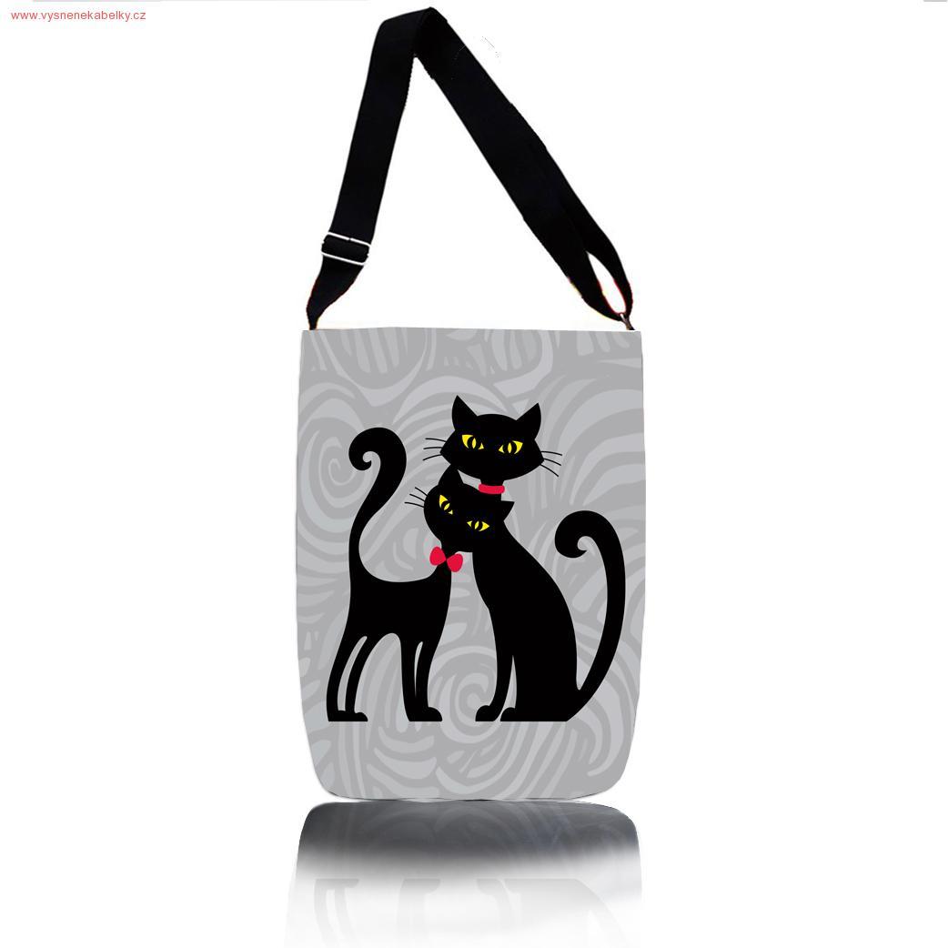 186d14a32cd Kabelka přes rameno - Cats In Black