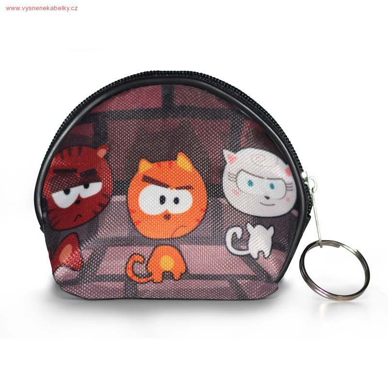 Designová peněženka, kapsička - O třech kočičkách