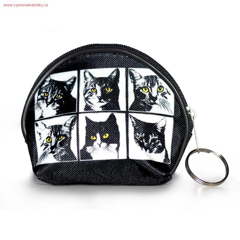 Designová peněženka, kapsička - Mix koček