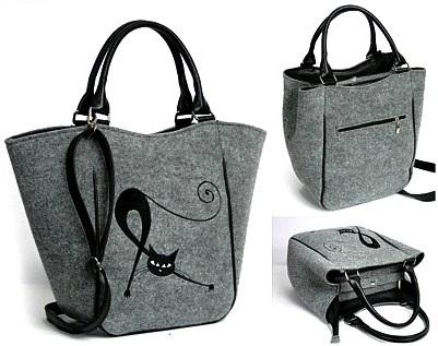 8fd02edb02 Kabelka Piknik - sv.šedá Protahující se kočka